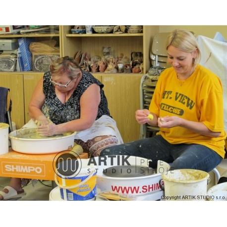 Kurz keramiky točení na kruhu praha