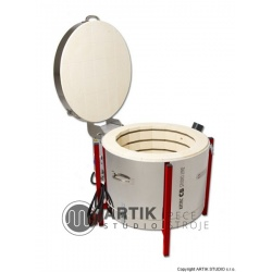 Keramická pec Kittec CB 70 PLUS - plynový víkový tlumič