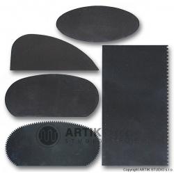 Set of steel scrapers 5 pcs
