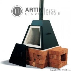 Keramická pec na dřevo Pyramide 135 litrů
