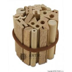 Sada dřevěných razítek 19 ks