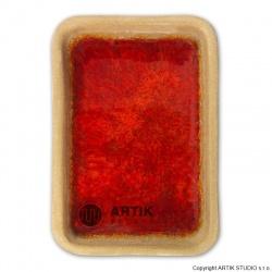 Drcené sklo GS-68, Červená, 0,5 kg (1000-1150°C)