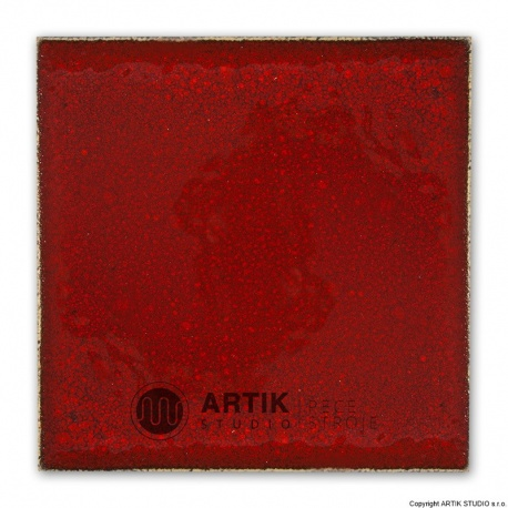 Glaze PK 685, Cardinal red (1020-1080°C)