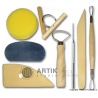 Set of pottery tools basic, 8 pcs, ZIP bag