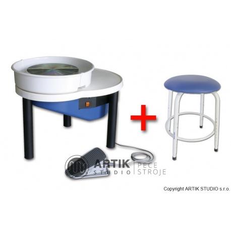 Pottery wheel Nidec Shimpo RK-55 with Stool