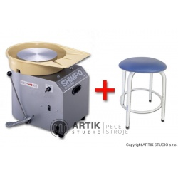 Pottery wheel Nidec Shimpo RK-3D with Stool