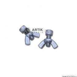 Set of screws with wingnuts for affixing bats (2x)