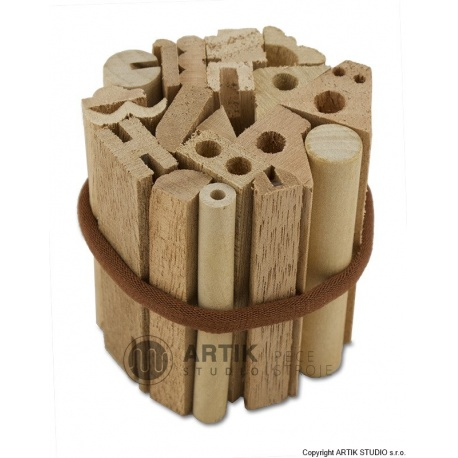 Set of wooden stamps, 19 pcs