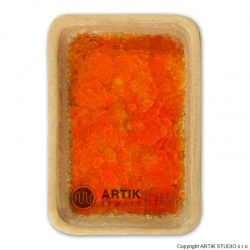 Crushed glass GS-63, Orange, 0,5 kg 1000-1150°C