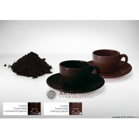 Ceramic stain K 54324, dark brown