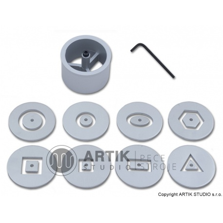 Set of 8 hollow profiles + alu plug for HX-65