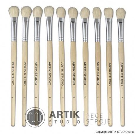 Set of small brushes nr. 1, 10 pcs, goat bristle
