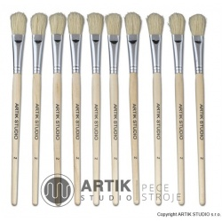 Set of medium brushes nr. 2, 10 pcs, nylon bristle