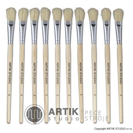 Set of medium brushes nr. 2, 10 pcs, nylon bristle