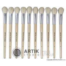 Set of big brushes nr. 3, 10 pcs, goat bristle