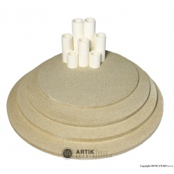 Set of kiln furn. Top130/160/190 (5 shelves,cones)