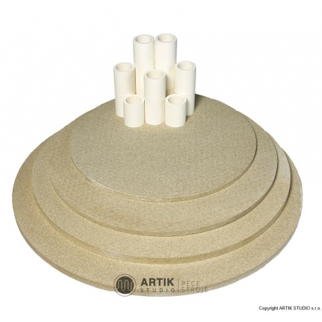 Set of kiln furn. Top130/160/190 (5 shelves,cones)