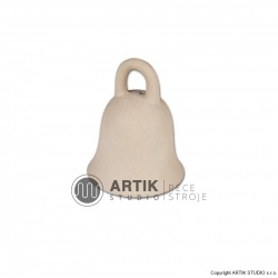 Plaster mould Z1, Small bell with open handle 8 cm