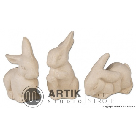 Plaster mould ZA1, Rabbits (3 pcs)