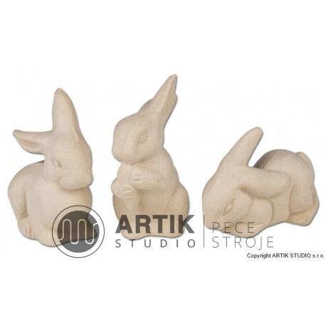 Plaster mould ZA1, Rabbits (3 pcs)