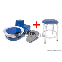 Pottery wheel Shimpo RK-5TF with stool, table top