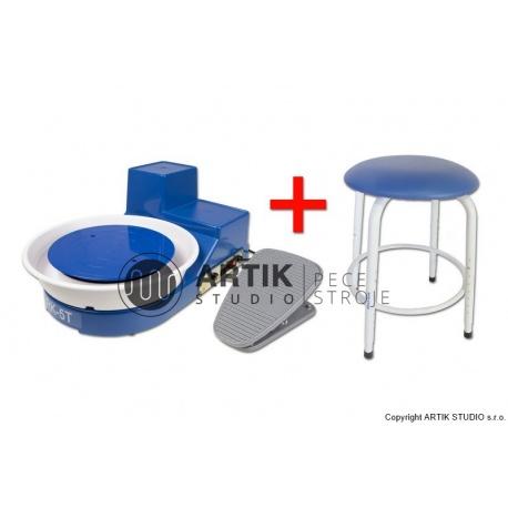 Hrnčířský kruh RK-5TF se sedačkou Stool