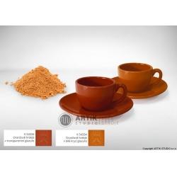 Keramické barvítko K 54334, oranžově hnědá