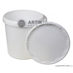 Kbelík bílý s víkem, 15 kg, 10 litrů