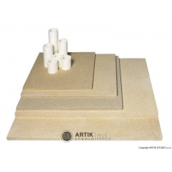 Kiln furniture SET XT 200 (4 pcs shelves, cones)