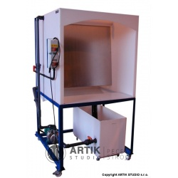 G166 Waterwash glazing spray booth, 400V