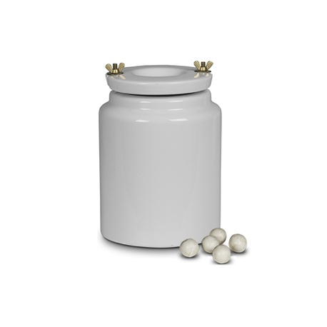 Porcelain container 1l - for ball mill with bodies