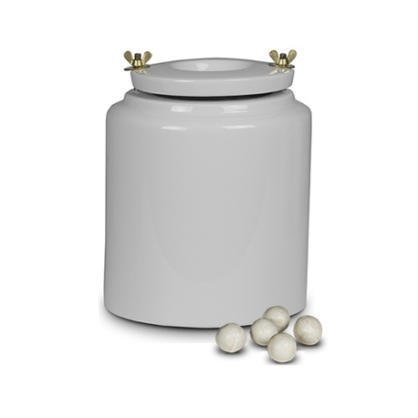 Porcelain container 3l - for ball mill with bodies