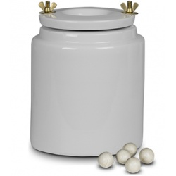 Porcelain container 2l - for ball mill with bodies