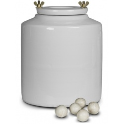 Porcelain container 10l- for ball mill with bodies