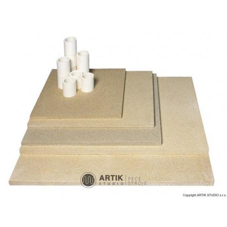 Kiln furniture SET N 100 (4 pcs shelves, cones)