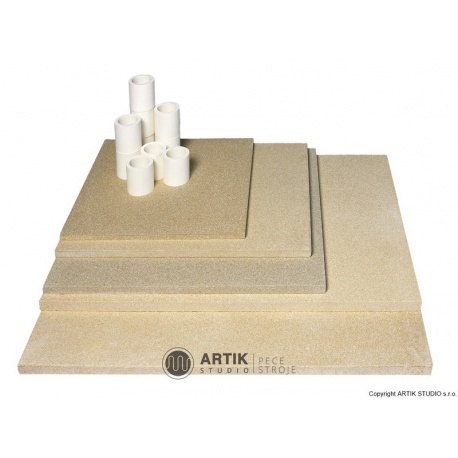 Kiln furniture SET N 200 (5 pcs shelves, cones)